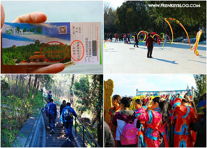 Tiket Masuk, Aktivitas Olahraga, Jalur Trekking, Tempat Penyewaan Baju - Jingshan Park Beijing