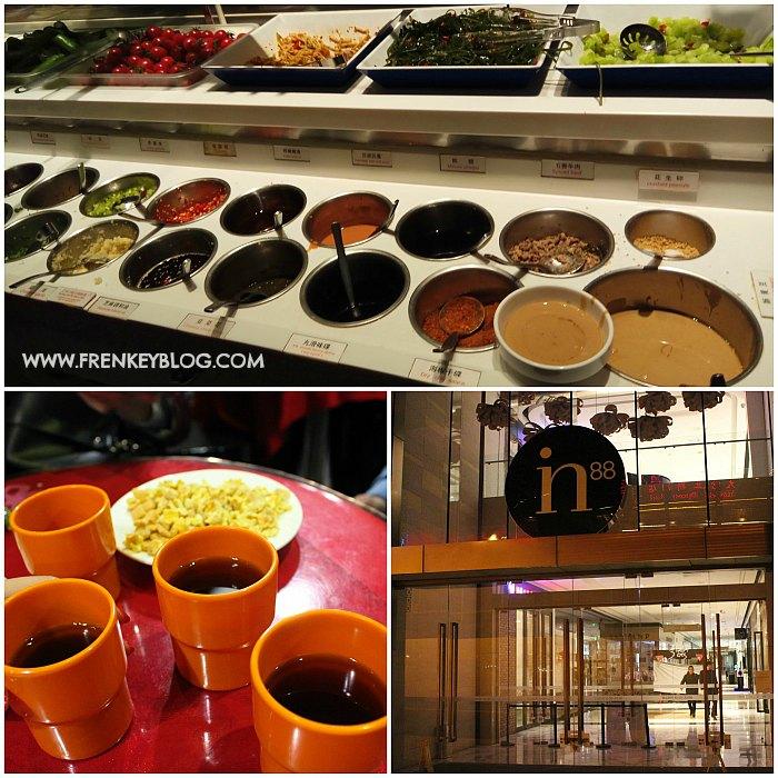Aneka Side Dish & Bumbu di Hai Di Lao Hotpot, Cemilan & Minuman Gratis selagi Antri Waiting List, In88 Wangfujing ( Lokasi Haidilao Hot Pot )