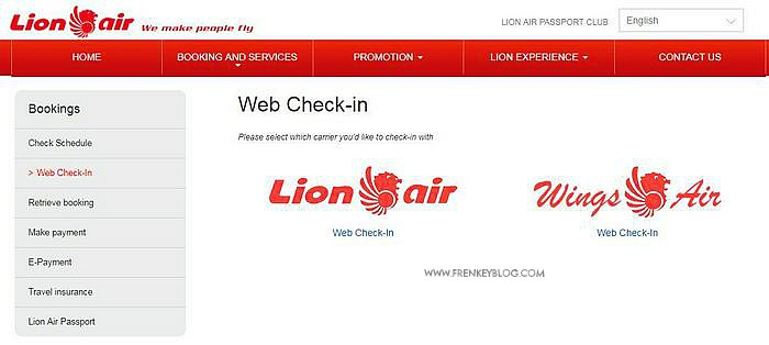 Lion Air – Cara Web Check-In dan Pilih Kursi Gratis