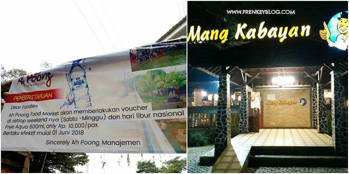 Harga Tiket Pasar Ah Poong di hari Sabtu, Minggu dan Libur Nasional - 10 ribu