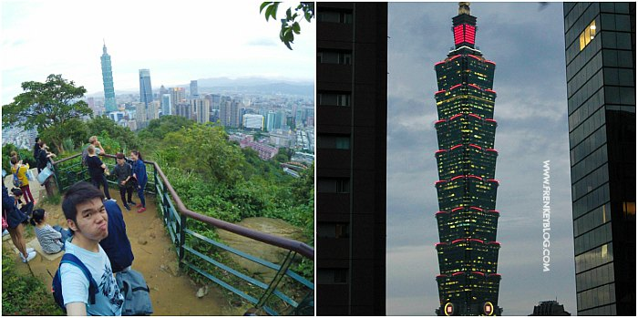 Check in @Elephant Mountain - Taipei 101 Tower dari Elephant Mountai