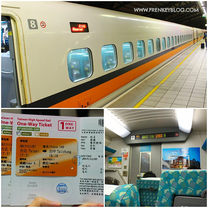 Kereta Cepat Taiwan dari Taipei ke Taichung