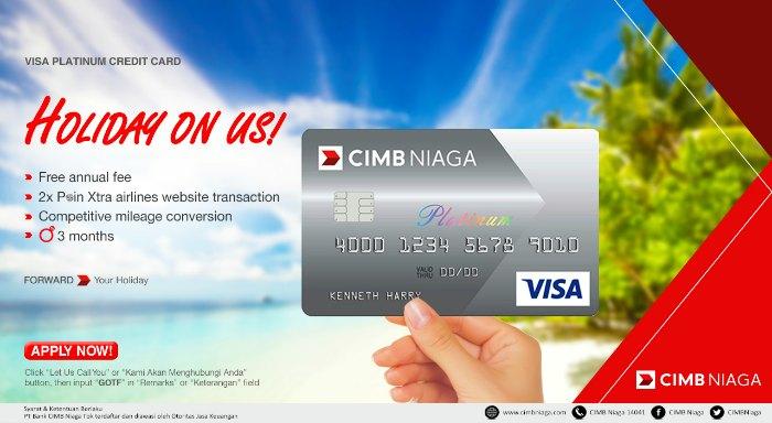 Keuntungan Kartu Kredit CIMB Niaga Visa Platinum