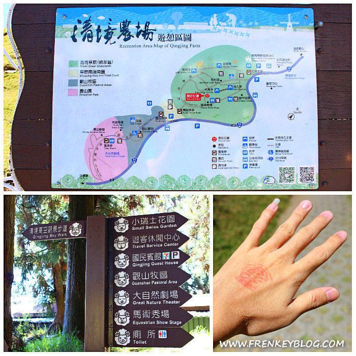 Petunjuk Arah di Cingjing Farm & Stempel Masuk Green-Green Grassland agar bisa keluar masuk area ini