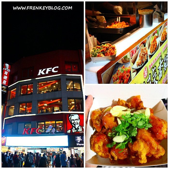 Antrian HotStar Ximending yang terletak di bawah KFC! Tulisan HotStar nya tidak terlihat karena terlalu silau buat di foto :)) - Ayam Boneless Bumbu Thai